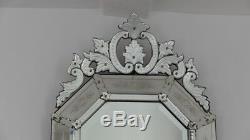 12872.5 Cm, Grand Miroir Vénitien à Parcloses époque Napoléon III, XIX ème