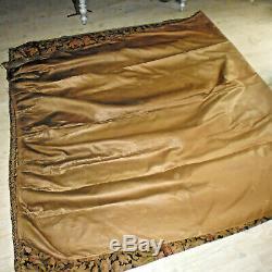2 Ancien tenture rideau chateau french fabric tapisserie Napoleon 3 XIXe 350x184