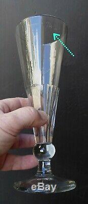 6 hautes flûtes à bière, 1/4l, série verres de Bistrot XIXe