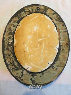 ANCIEN GRAND CADRE RELIQUAIRE XIX eme NAPOLEON III VERRE BOMBE 40 X 32 CM