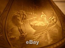 Abat Jour Biscuit Lithophanie XIXe Napoléon III Photophore Pre-Cinema optique
