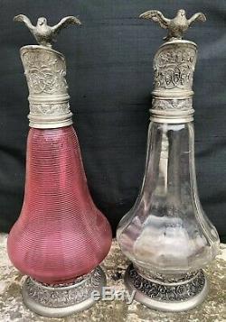 Aiguières Paire de Carafes Fin XIXe Style Renaissance Napoléon III Vase Pichet