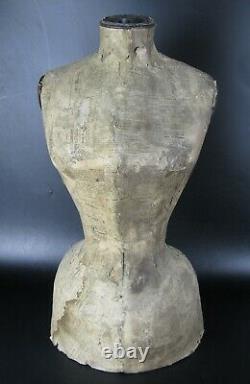 Ancien Buste Mannequin XIX Taille De Guepe Couture Napoleon III