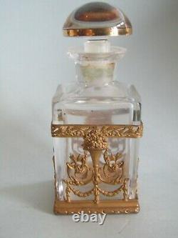 Ancien Flacon A Parfum De Style Empire Bronze Antique Perfume Bottle XIX