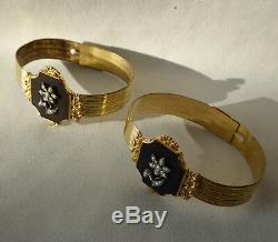 Ancien bijou Paire De Bracelets De Bal époque Napoléon III XIXe Jarretiere