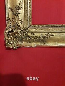Ancien cadre doré époque XIX ème, style Louis XV, Napoléon III
