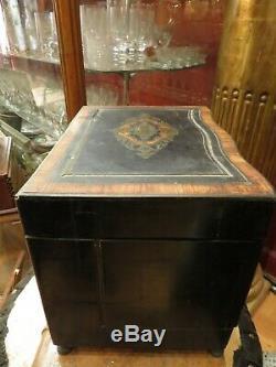 Ancien cave a liqueurs napoleon III XIXe marqueterie de bois de rose
