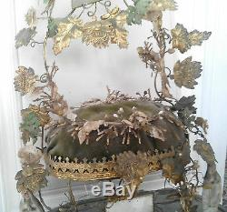 Ancien décor garniture de globe de mariage ou de mariés Napoléon III XIXe
