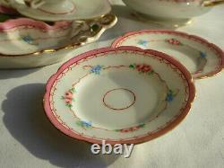 Ancienne Dinette En Porcelaine De Paris Epoque Napoleon Iii, Poupees Xixe Jouet