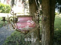 Ancienne Suspension Cache Pot Napoleon XIX French Antique