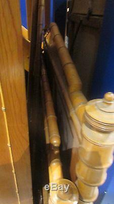 Ancienne chambre & secretaire bambou epoque XIXe lit armoire chevet napoleon 3
