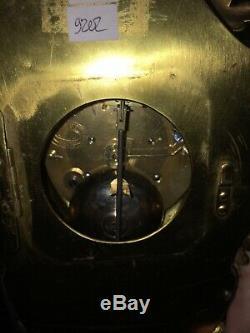 Ancienne horloge murale Cartel en bronze Napoléon III XIX ème