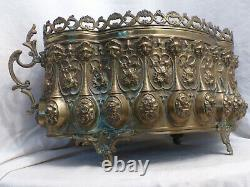 Ancienne jardiniere laiton doré XIX eme Napoleon III Antique french 19th