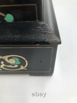 Ancienne pendule portique NAPOLEON III marqueterie XIXe 19TH Fonctionne JAPY
