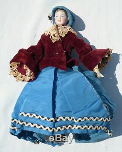 Ancienne poupée de mode corps en cuir XIXe Napoléon III BISCUIT PARISIENNE Huret