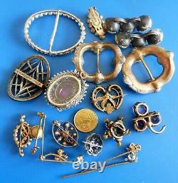 Antique Ancient XIX Jewels Jewelry Lot Accessoires Bijoux Anciens Napoleon III
