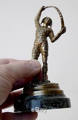 Arlequin, Bronze doré XIXe, Objet dentaire Pique Cure-dents