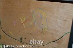 BELLE BOITE de PEINTRE XIXe NAPOLEON III jus de grenier Sans peinture Collection