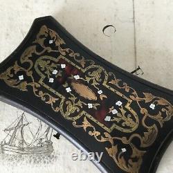 BOÎTE Coffret Couture Vide Marqueterie Boulle XIXè Sewing Case Marquetry 19thC