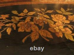 Bel ancien gueridon a 3 plateaux en marqueterie epok XIXe napoleon III serviteur
