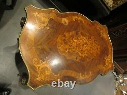 Bel ancien gureidon table bureau napoleon III bronze et marqueterie XIXe st LXV