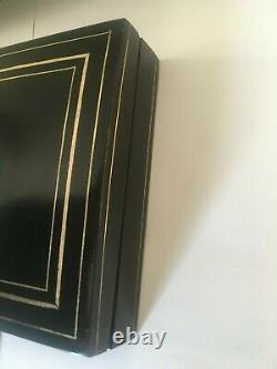 Boite Napoléon III Boite noire Boulle Marqueterie XIX siècle objet de vitrine