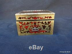 Boite à bijoux en Marqueterie Boulle XIX Epoque Napoléon III 6X7X4cm