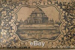 Boite tabatière en argent niellé Monument Napoléon III XIXe