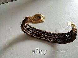 Bracelet Damitie Fin XIX Fait En Cheveux Avec Fermoir En Or Tres Bel Etat