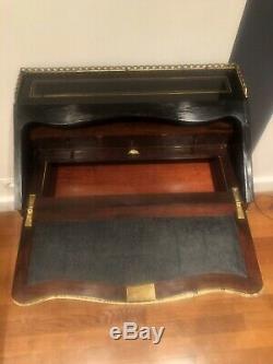 Bureau Pente Époque Napoléon III Filet Bronze XIX Eme