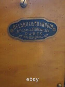 COFFRE FORT EN MÉTAL PEINT XIX siècle NAPOLEON III DELARUE & GRANGOIR