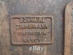 CUISINIERE FOURNEAU BOIS FONTE BONNAIRE ZIMMERMANN NANCY XIXè