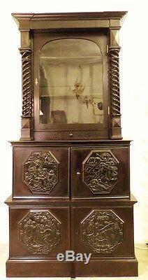 Cabinet Napoléon III, Colonnes Torse, Scènes Mythologiques, XIX ème