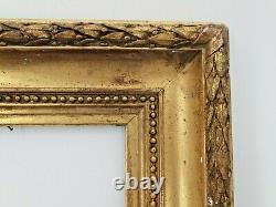 Cadre Ancien en bois et stuc doré Napoléon III, fin XIX ème s