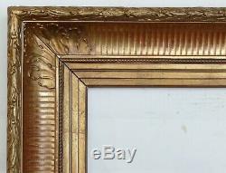 Cadre ancien à canaux Barbizon XIXe pour tableaux dessin peinture Napoléon III