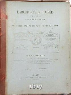 Cesar Daly L'architecture Privee Au XIX Sous Napoleon III Maisons De Paris 1864