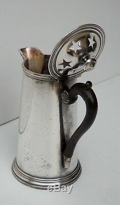 Christofle, Haute Verseuse à couvercle étoilé de grande maison, XIXe