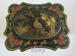 Coffret Ancienne Boite A Bijoux En Bois Laque XIX Antique Lacquer Jewelry Box