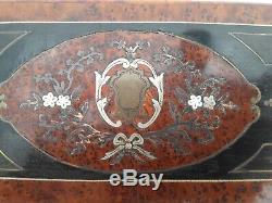 Coffret Boite a Gant Napoléon III Marqueterie XIXe antique marquetry box