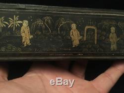 Coffret Eventail Boite Rare XIX Fan Napoleon III
