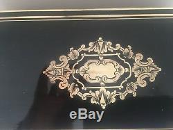Coffret a thé Napoléon III Boite marquetée Boulle XIX siècle Objet de collection