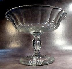 Coupe de Confiseur Cristal taillé, Baccarat, XIXe, pied à goutte d'air
