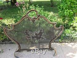 Ecran De Cheminee En Bronze Napoleon III XIX Eme