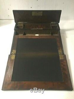 Écritoire Napoléon III en bois noir Marqueterie Boulle XIX siècle