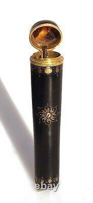 Etui boite écrin à Billet doux message XIXe Napoléon III or