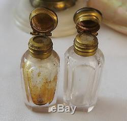 FLACONS A ODEUR cristal et NACRE BURGAU XIXè s