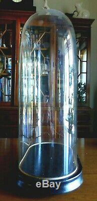 GRAND GLOBE DE MARIEE SUR SOCLE BOIS NOIRCI XIXe NAPOLEON III PENDULE, STATUE