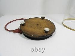 Globe de mariée XIXe Napoleon III socle bois noirci idéal cabinet de curiosités