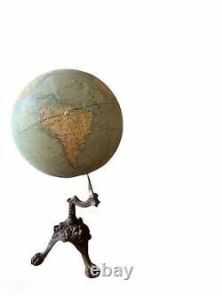 Globe terrestre XIXè. Girard et Boitte. Vers 1880. Dans son jus