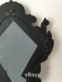 Grand Miroir Ebonite Décor Gutta Percha Napoléon III XIXè Victorian Mirror 19thC
